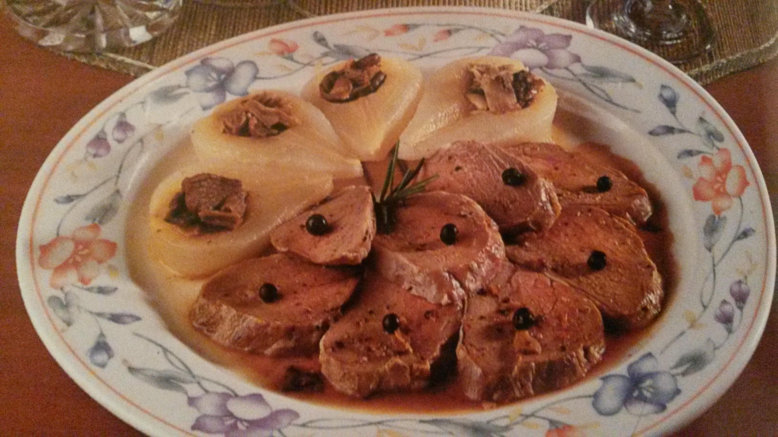Filetto di maiale con pere senza glutine