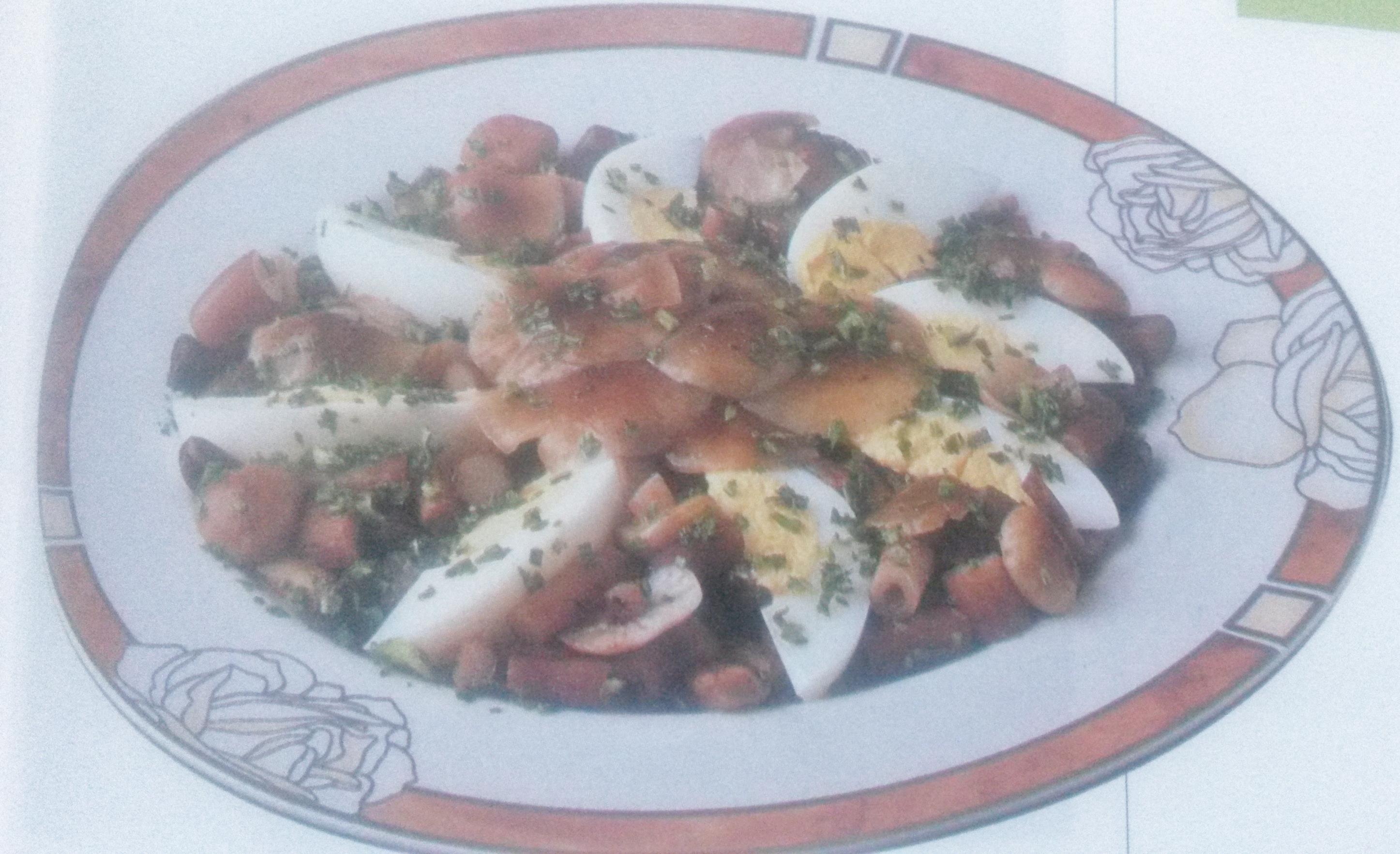 insalata di pioppini e uova senza glutine