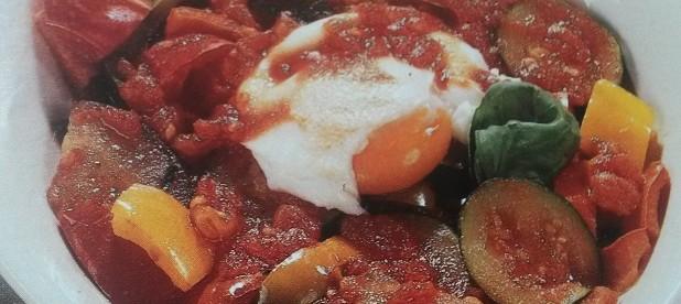 uova con caponata senza glutine