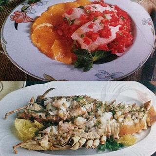 salmone alla menta e aragosta gluten free
