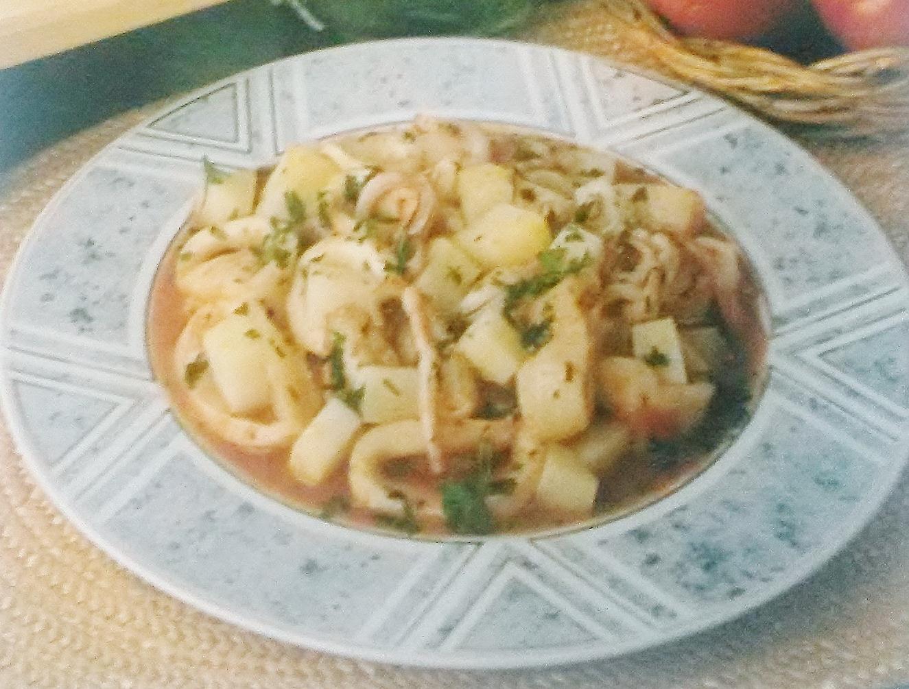 Calamari in umido senza glutine