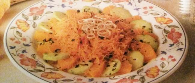 Arance e carote in insalata senza glutine