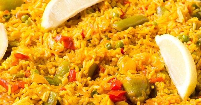 Paella vegana e senza glutine