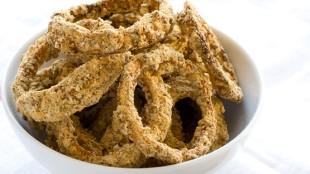 Onion rings al forno senza glutine