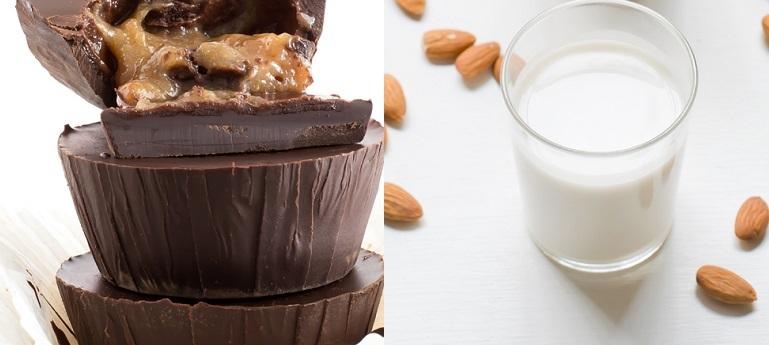 Tortine al cioccolato e latte di mandorle senza glutine