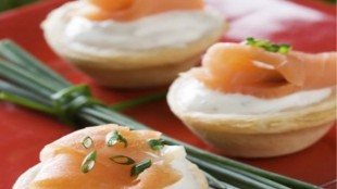 Canapè di salmone senza glutine